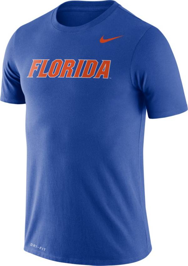 Nike Men's Florida Gators Blue Dri-FIT Legend Word T-Shirt product image