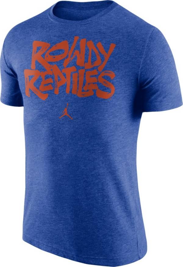 Jordan Men's Florida Gators Blue 'Rowdy Reptiles' Tri-Blend Verbiage T-Shirt product image