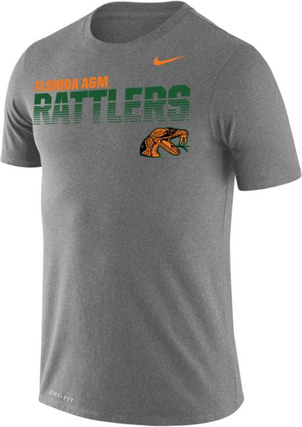 Nike Men's Florida A&M Rattlers Grey Legend Football Sideline T-Shirt product image