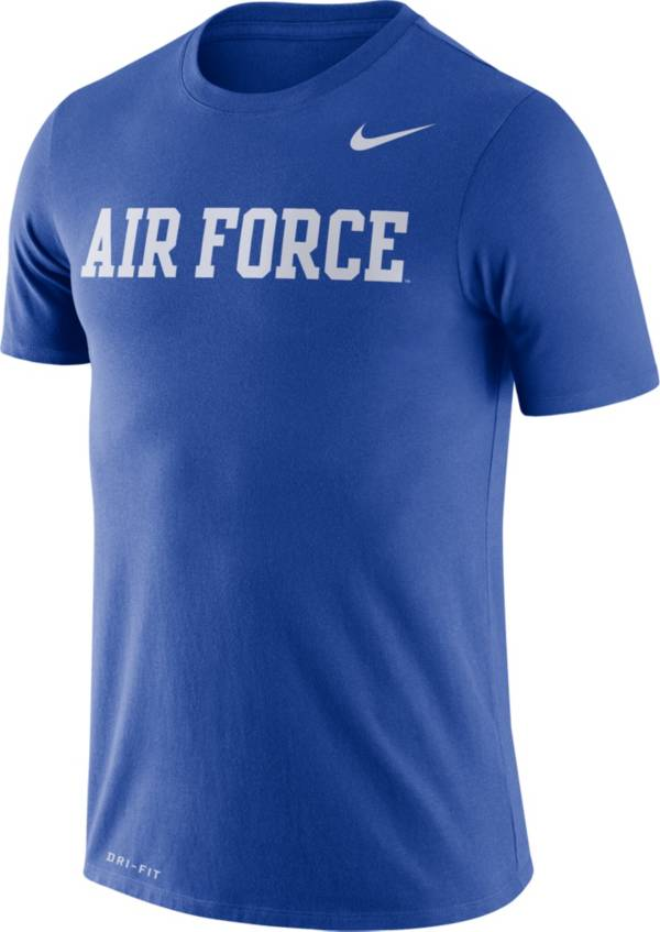 Nike Men's Air Force Falcons Blue Dri-FIT Legend Word T-Shirt product image