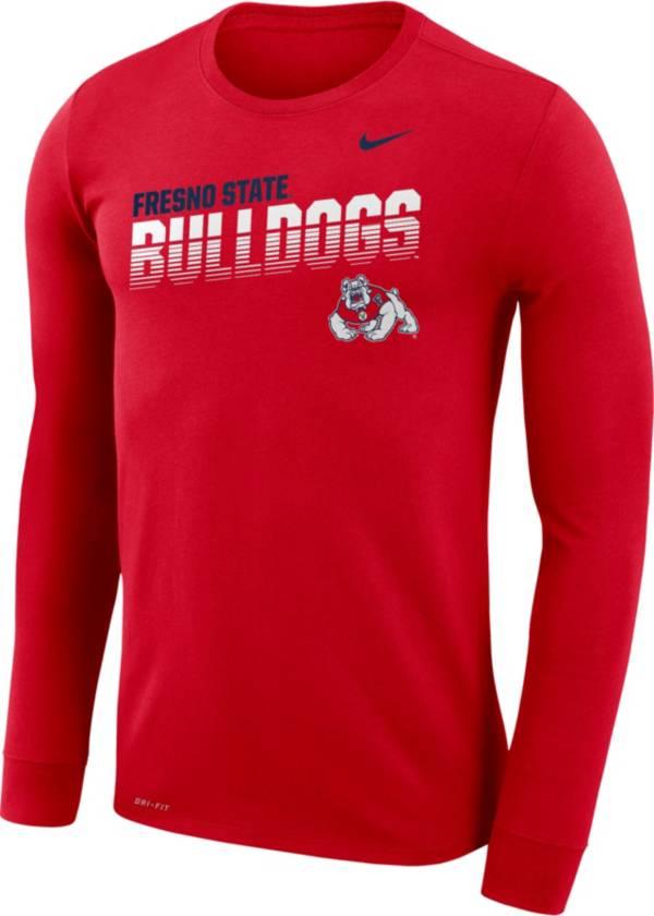 Nike Men's Fresno State Bulldogs Cardinal Legend Football Sideline Long Sleeve T-Shirt product image