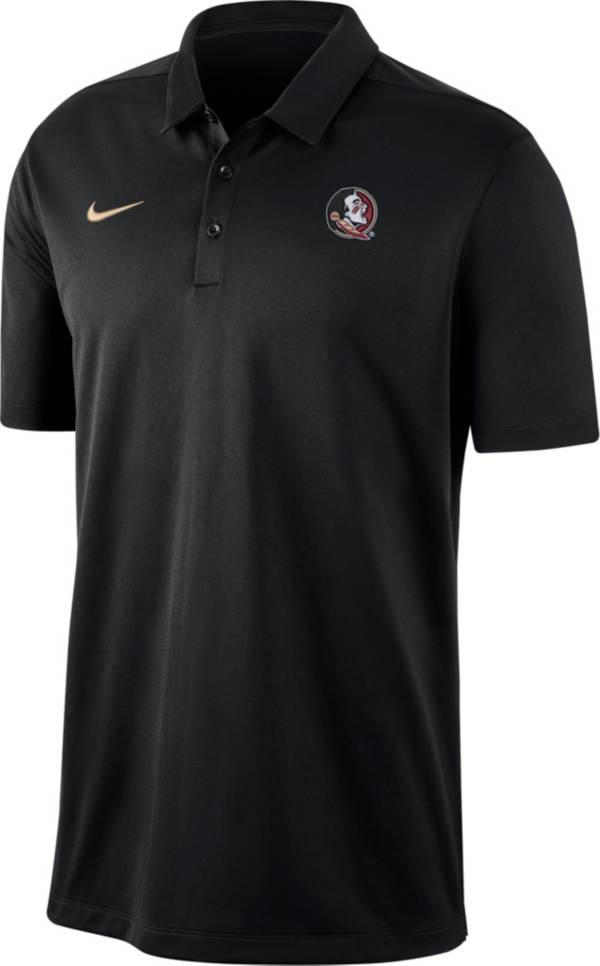 Nike Men's Florida State Seminoles Dri-FIT Franchise Black Polo product image