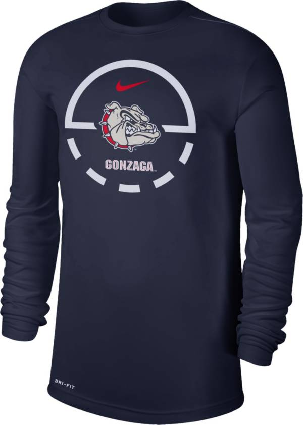 Nike Men's Gonzaga Bulldogs Blue Legend Basketball Key Long Sleeve T-Shirt product image