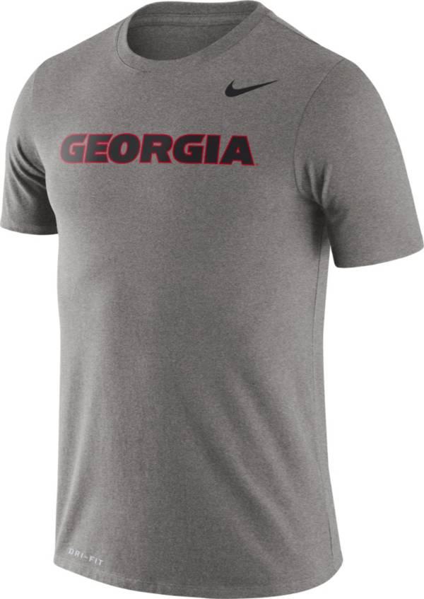 Nike Men's Georgia Bulldogs Grey Dri-FIT Legend Word T-Shirt product image