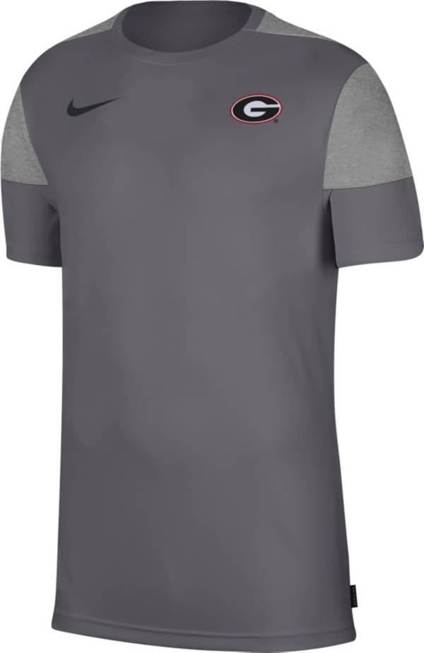 Nike Men's Georgia Bulldogs Grey Top Coach UV T-Shirt product image