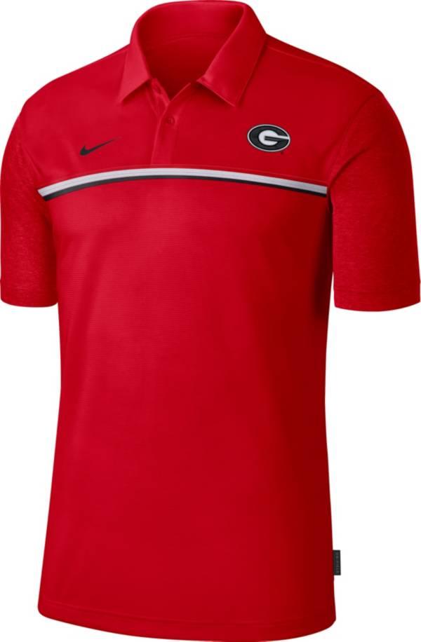 Nike Men's Georgia Bulldogs Red Dri-FIT Football Sideline Polo product image