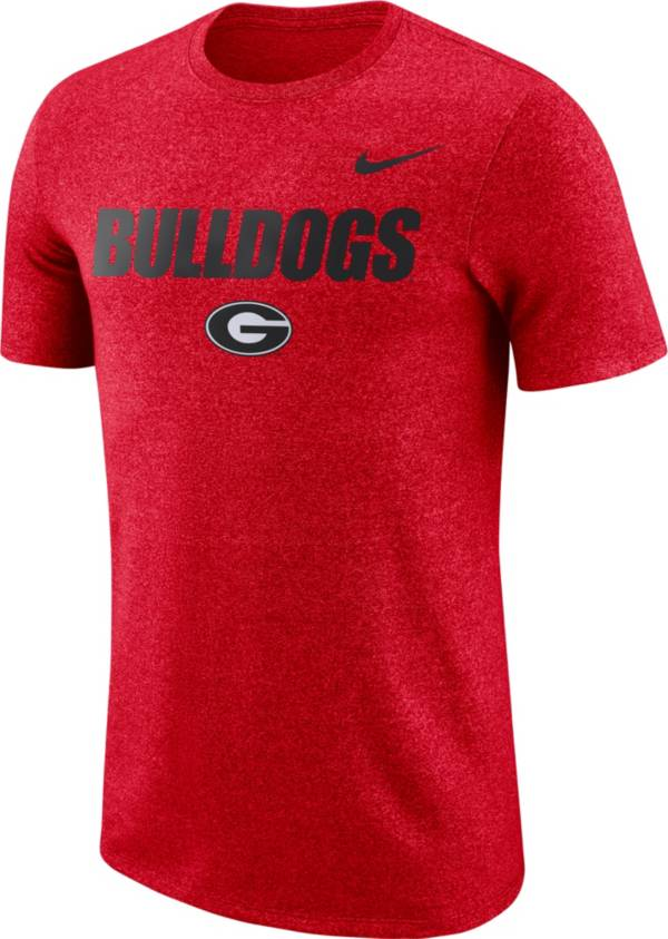 Nike Men's Georgia Bulldogs Red Marled Logo T-Shirt product image