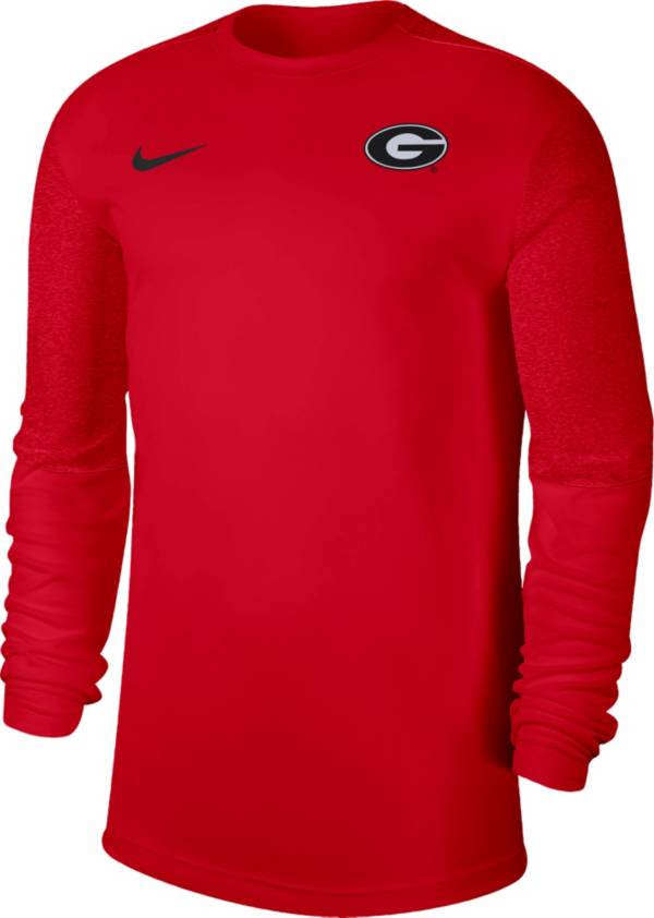 Nike Men's Georgia Bulldogs Red Top Coach UV Football Long Sleeve T-Shirt product image