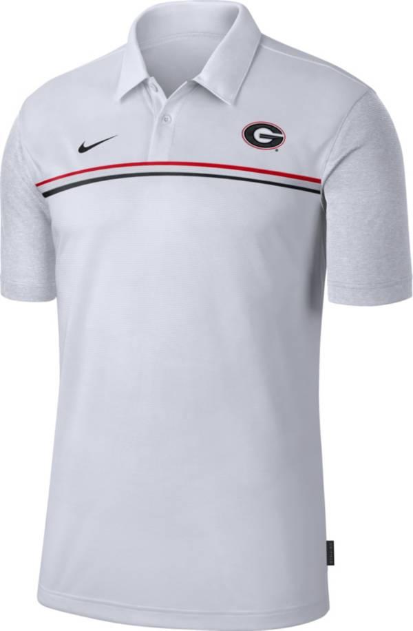 Nike Men's Georgia Bulldogs Dri-FIT Football Sideline White Polo product image