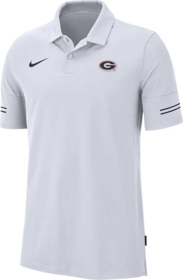 Nike Men's Georgia Bulldogs Elevated Flex On-Field Performance White Polo product image