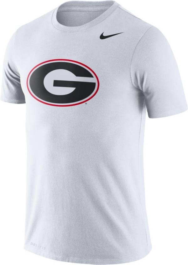 Nike Men's Georgia Bulldogs Logo Dry Legend White T-Shirt product image