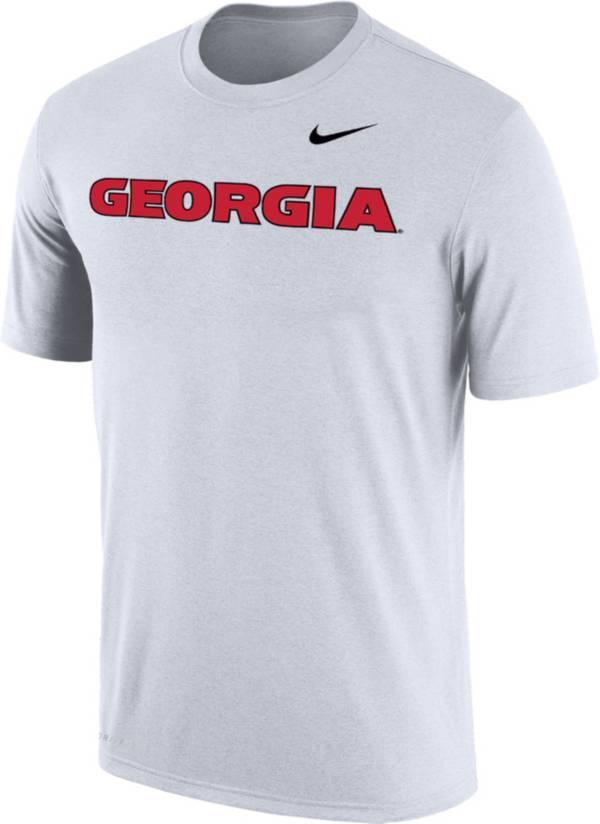 Nike Men's Georgia Bulldogs Dri-FIT Cotton Word White T-Shirt product image