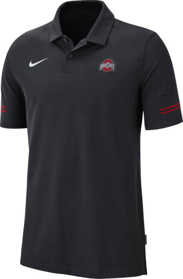 Nike Men's Ohio State Buckeyes Elevated Flex On-Field Performance Black Polo product image
