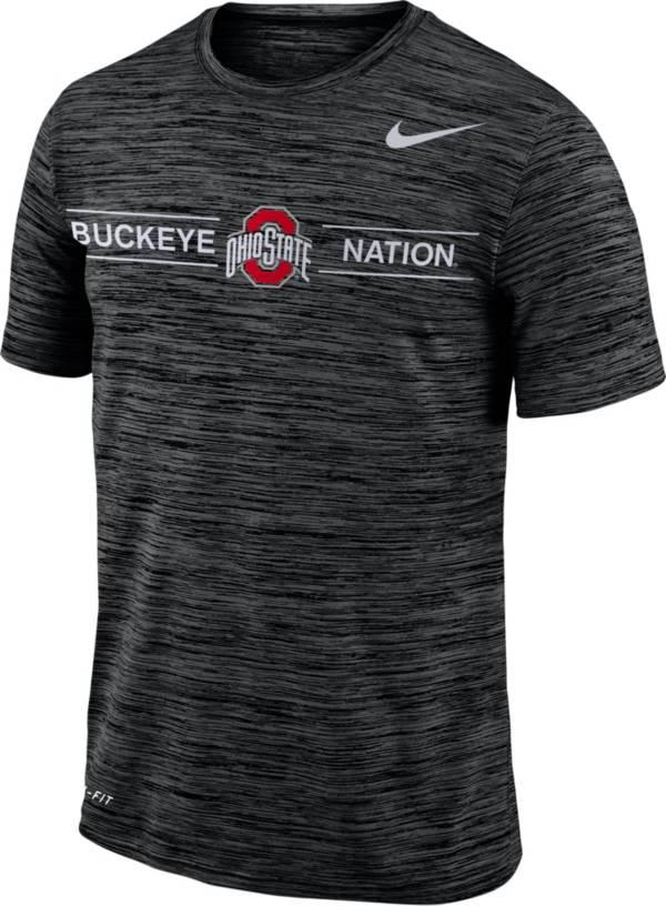 Nike Men's Ohio State Buckeyes Velocity 'Buckeye Nation' Football Black T-Shirt product image