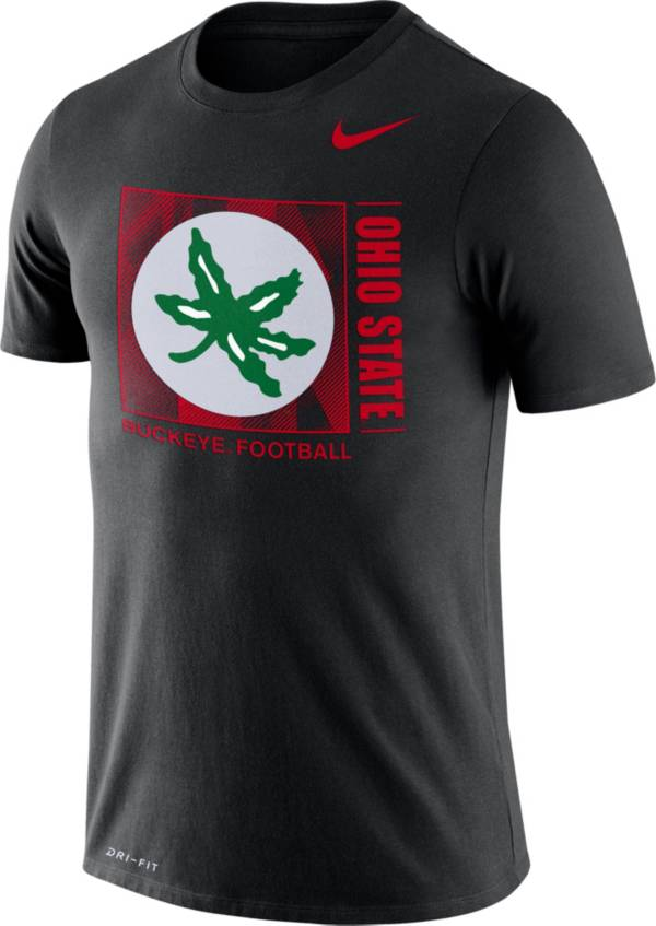 Nike Men's Ohio State Buckeyes Team Issue Logo Football Black T-Shirt product image