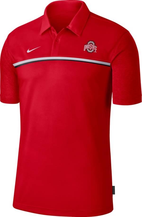 Nike Men's Ohio State Buckeyes Scarlet Dri-FIT Football Sideline Polo product image