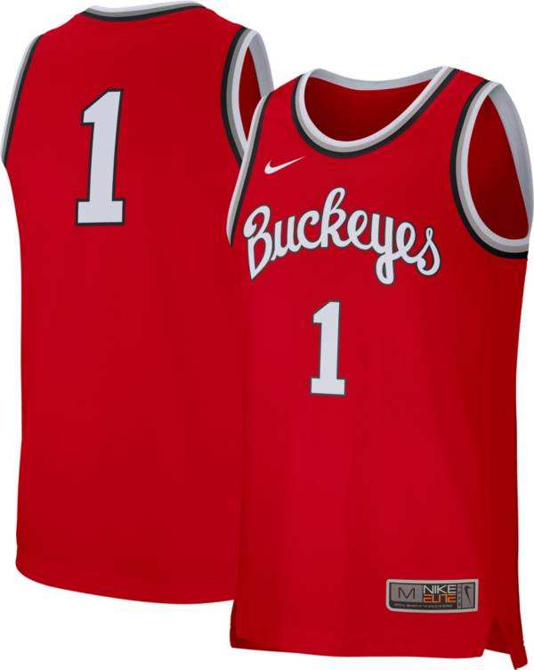 Nike Men's Ohio State Buckeyes #1 Scarlet Replica Retro Basketball Jersey product image