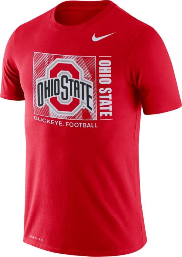Nike Men's Ohio State Buckeyes Scarlet Team Issue Logo Football T-Shirt product image