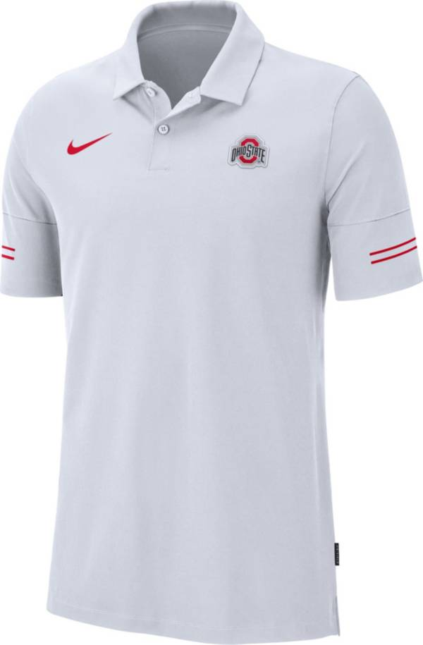Nike Men's Ohio State Buckeyes Elevated Flex On-Field Performance White Polo product image