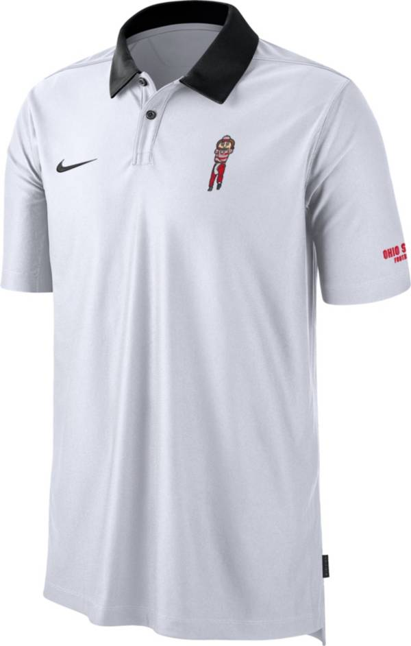 Nike Men's Ohio State Buckeyes Dri-FIT Rivalry Football Sideline White Polo product image