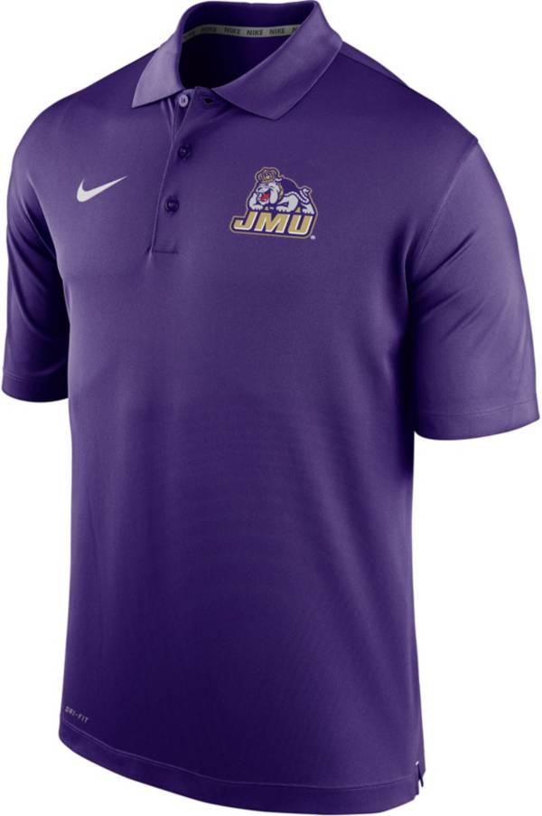 Nike Men's James Madison Dukes Purple Varsity Polo product image