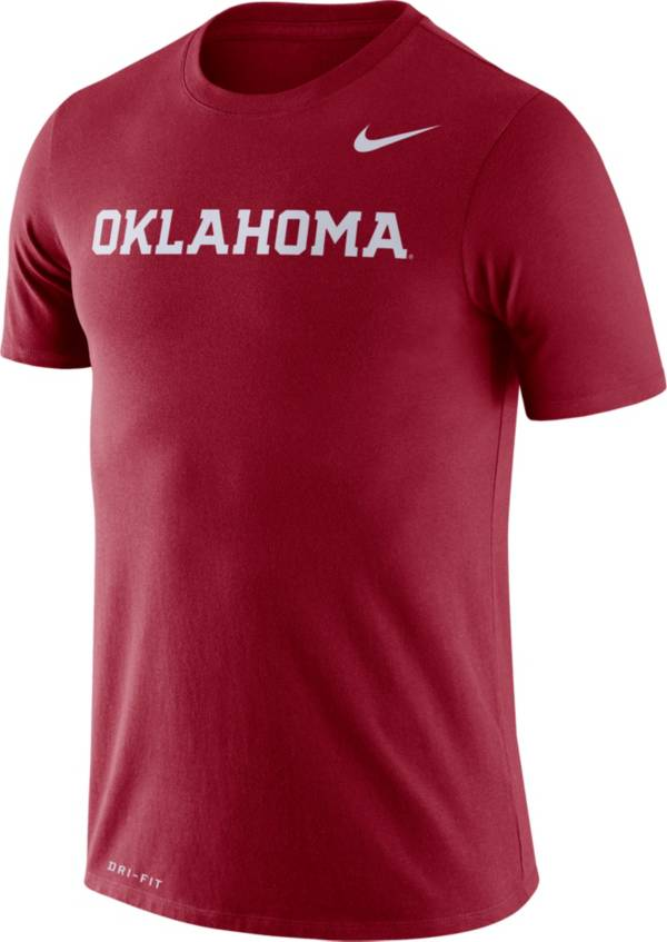 Nike Men's Oklahoma Sooners Crimson Dri-FIT Legend Word T-Shirt product image
