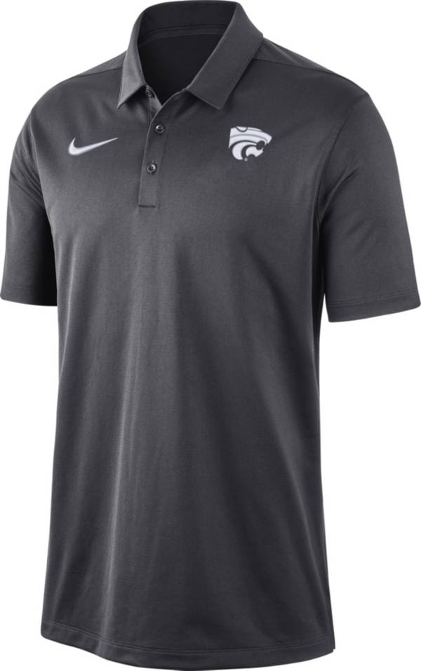 Nike Men's Kansas State Wildcats Grey Dri-FIT Franchise Polo product image
