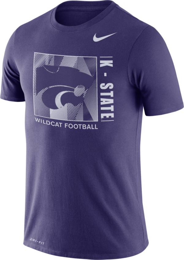 Nike Men's Kansas State Wildcats Purple Team Issue Logo Football T-Shirt product image
