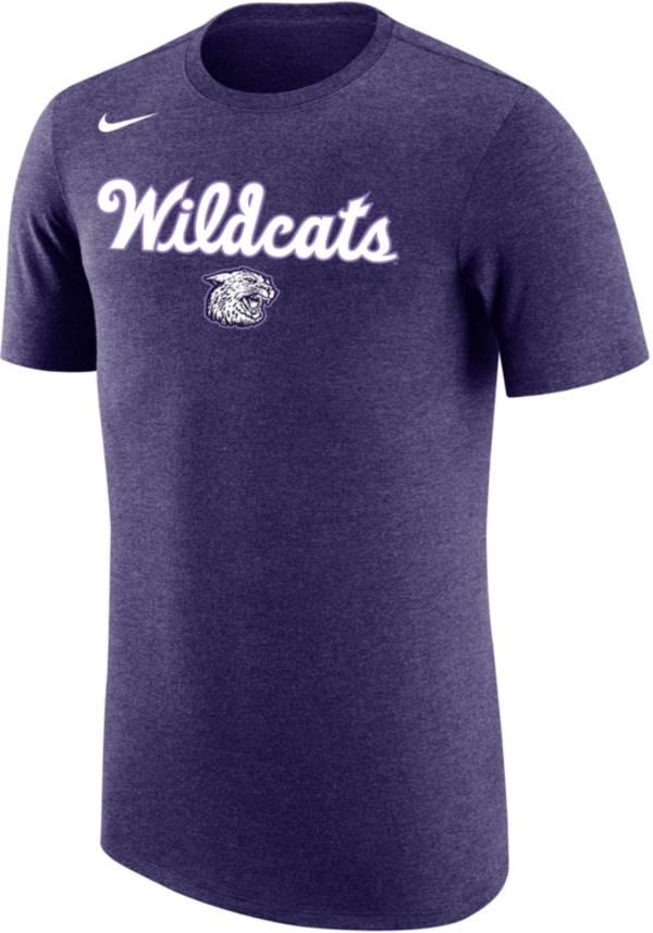 Nike Men's Kansas State Wildcats Purple Dri-FIT Retro Basketball T-Shirt product image