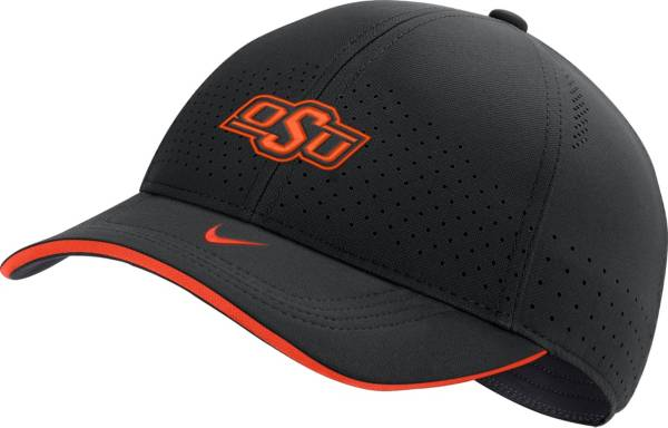 Nike Men's Oklahoma State Cowboys AeroBill Classic99 Football Sideline Black Hat product image