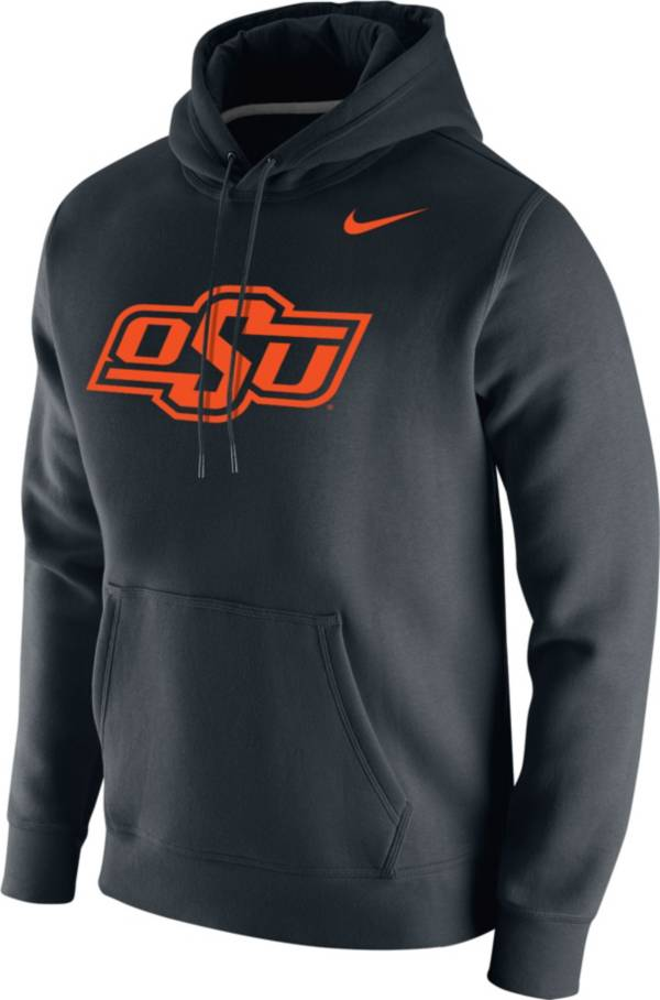 Nike Men's Oklahoma State Cowboys Club Fleece Pullover Black Hoodie product image