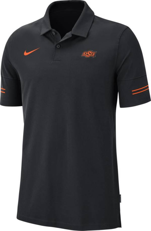 Nike Men's Oklahoma State Cowboys Elevated Flex On-Field Performance Black Polo product image