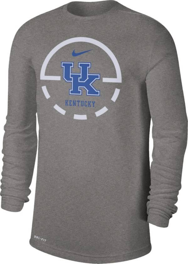Nike Men's Kentucky Wildcats Grey Legend Basketball Key Long Sleeve T-Shirt product image