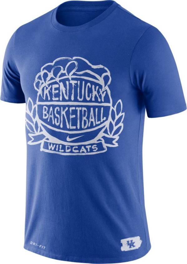 Nike Men's Kentucky Wildcats Blue Dry Crest Basketball T-Shirt product image