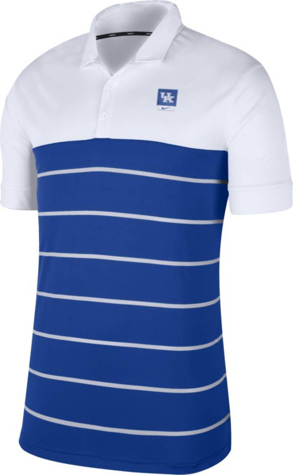 Nike Men's Kentucky Wildcats White/Blue Striped Polo product image