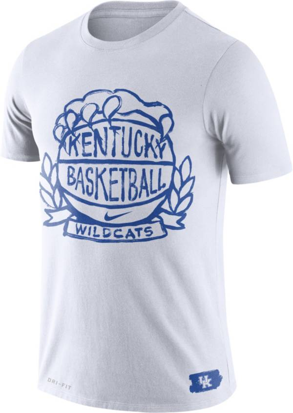 Nike Men's Kentucky Wildcats Dry Crest Basketball White T-Shirt product image