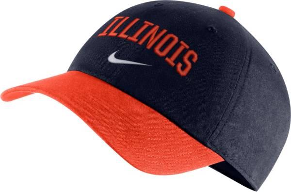 Nike Men's Illinois Fighting Illini Blue/Orange Heritage86 Arch Wordmark Hat product image