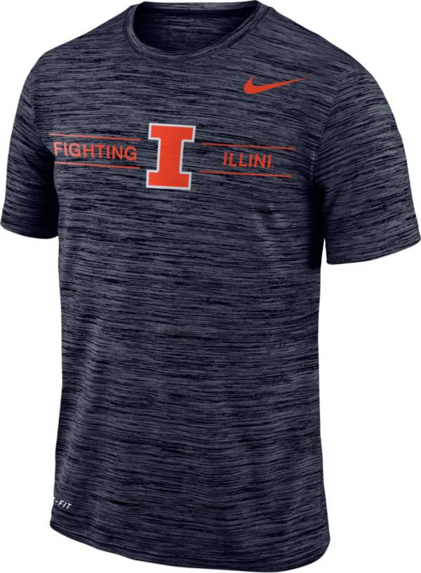 Nike Men's Illinois Fighting Illini Blue Velocity Football T-Shirt product image