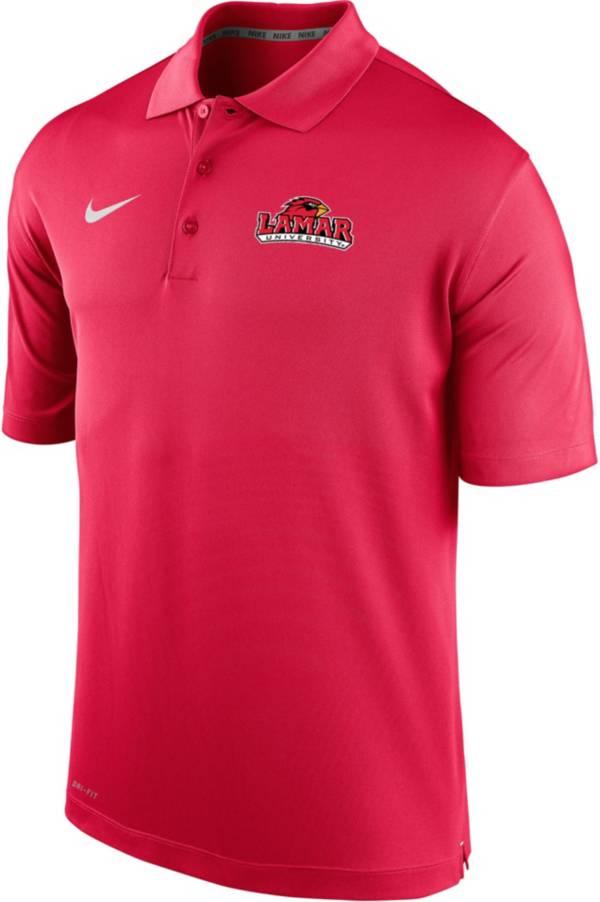Nike Men's Lamar Cardinals Red Varsity Polo product image