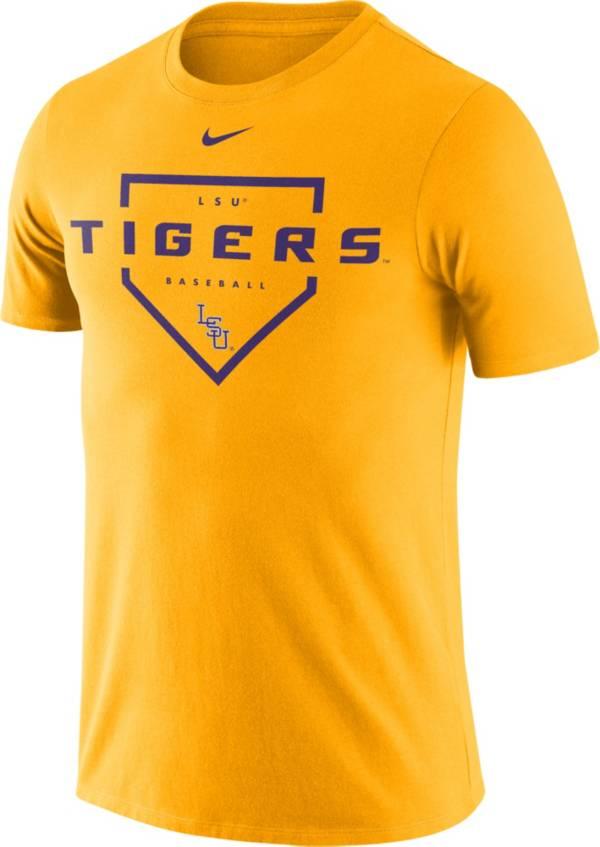 Nike Men's LSU Tigers Gold Dri-FIT Home Plate Baseball T-Shirt product image