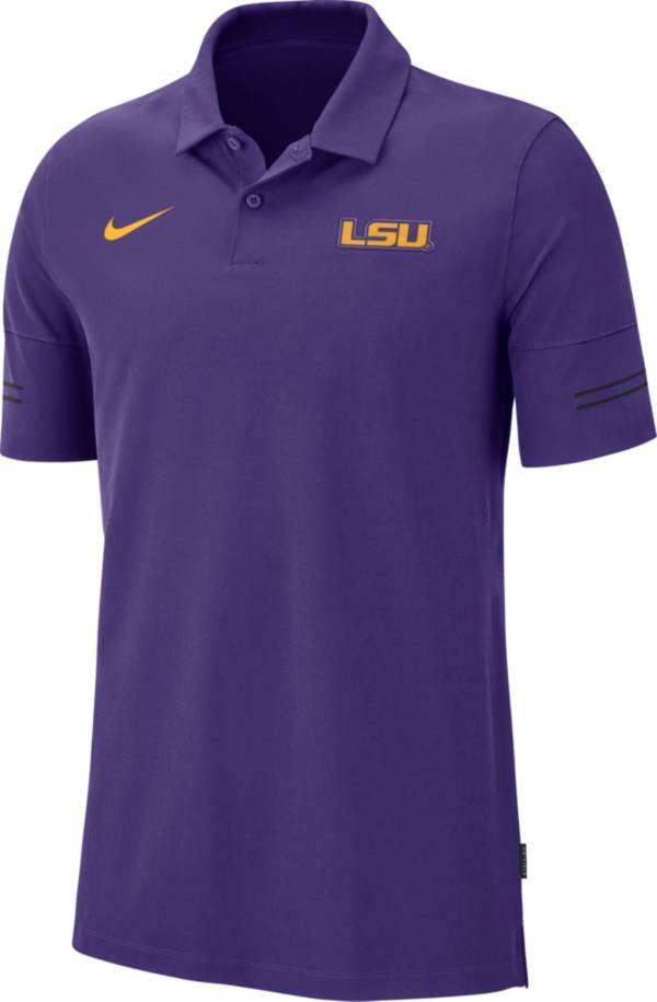 Nike Men's LSU Tigers Purple Elevated Flex On-Field Performance Polo product image