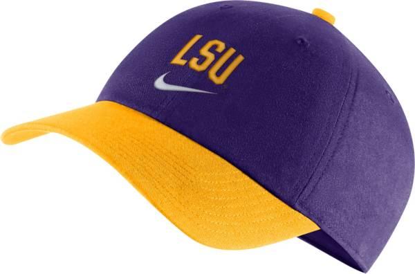Nike Men's LSU Tigers Purple/Gold Heritage86 Arch Wordmark Hat product image