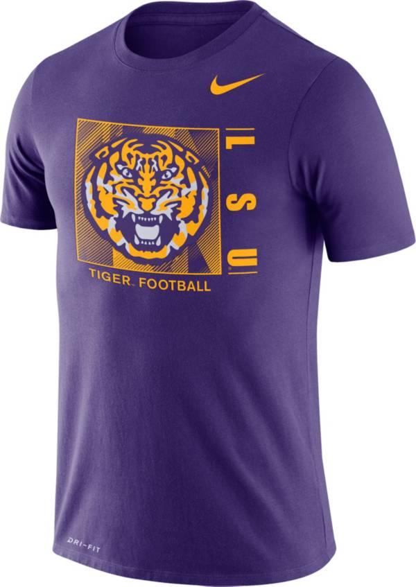 Nike Men's LSU Tigers Purple Team Issue Logo Football T-Shirt product image