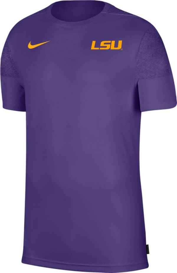 Nike Men's LSU Tigers Purple Top Coach UV T-Shirt product image