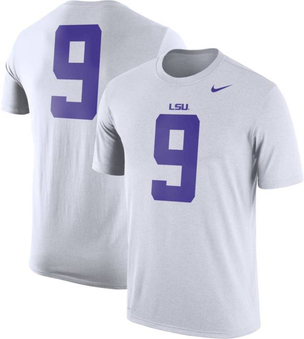 Nike Men's LSU Tigers #9 Football Jersey White T-Shirt product image