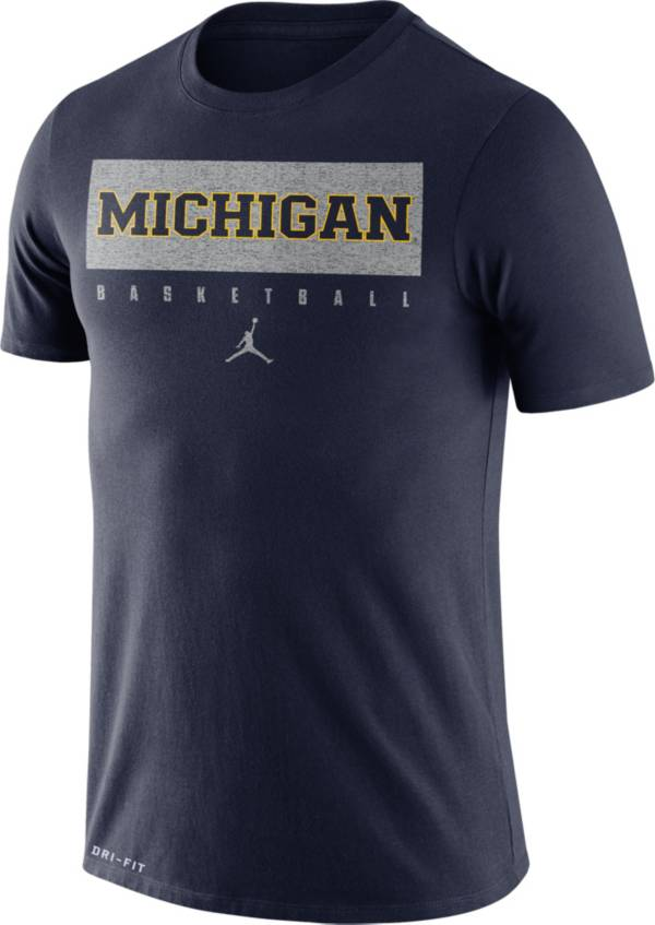 Jordan Men's Michigan Wolverines Blue Basketball Legend Practice T-Shirt product image