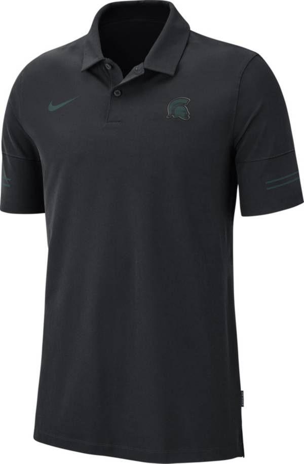 Nike Men's Michigan State Spartans Elevated Flex On-Field Performance Black Polo product image