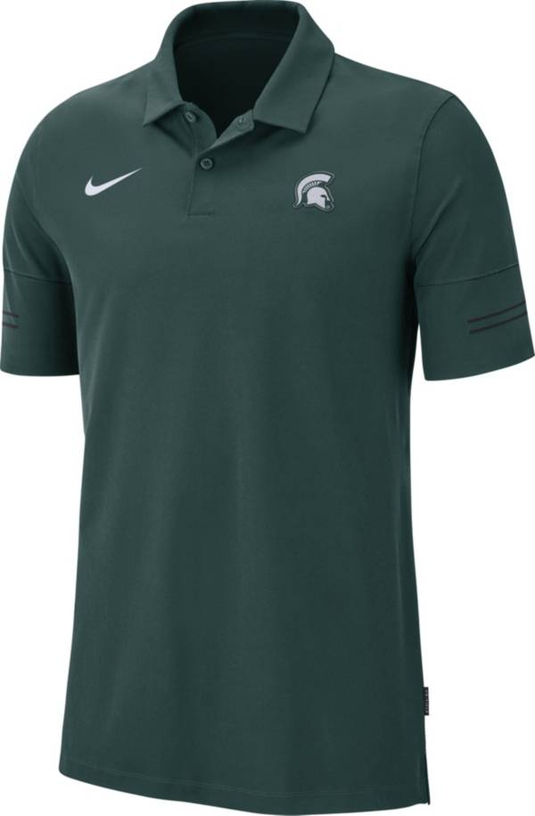 Nike Men's Michigan State Spartans Green Elevated Flex On-Field Performance Polo product image