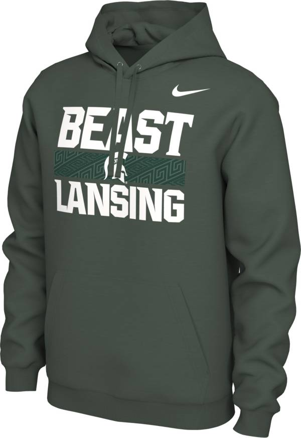 Nike Men's Michigan State Spartans Green 'Beast Lansing' Local Pullover Hoodie product image
