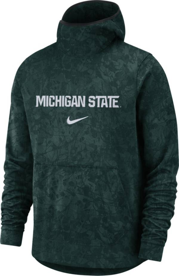 Nike Men's Michigan State Spartans Green Spotlight Pullover Basketball Hoodie product image